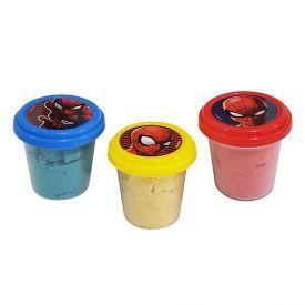 Kit Massinha de Areia Spiderman com 3 Potes Etitoys - DY-958