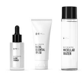 Kit Primer Silver + Protetor + Água Micellar Beyoung - Diversos
