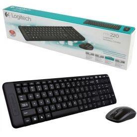 Kit Teclado e Mouse Wireless Logitech MK220 - DIVERSOS