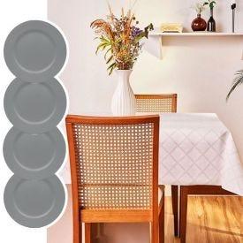 Kit Toalha De Mesa Quadrada+ 4 Sousplat Basic Verde Retro - Exclusividade Online