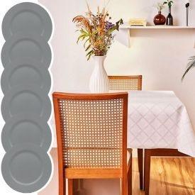 Kit Toalha De Mesa Retangular+ 6 Sousplat Basic Verde Retro - Exclusividade Online