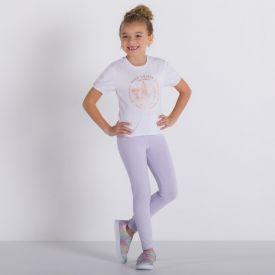 Legging 4 a 10 anos Cotton Básica Marmelada Lilas Hj 6437