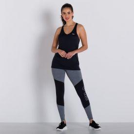 Legging Essencial Bold com Recortes Fila Mescla/Preto