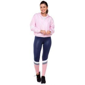 Legging Fit com Recortes Scream Azul/Rosa