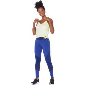 Legging Suplex + Recortes Scream Azul Marinho
