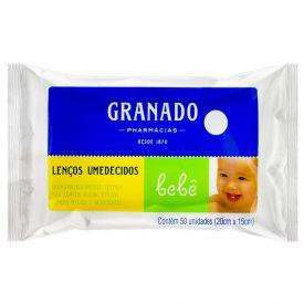 Lenço Umedecido Macio Granado Bebê- - Pacote 50uni.