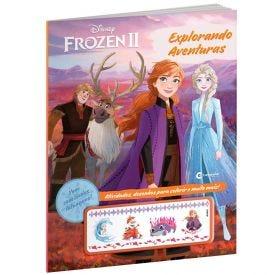 Livro Explorando Aventuras Frozen 2 Com Tatuagens - Culturama