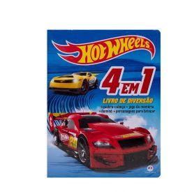 Livro Hot Wheels 4 Em 1 Diversão Ciranda Cultural - Azul