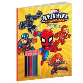 Livro Marvel Super Hero Adventure Ler E Colorir Com Lápis - Culturama