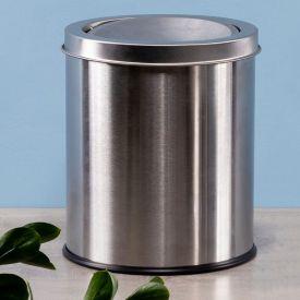 Lixeira Basculante 5 Litros Solecasa - Inox