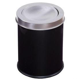 Lixeira Basculante Solecasa  Inox 3 Litros - Preto