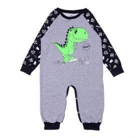 Macacão 1 a 3 anos Baby Dino Yoyo Kids Mescla