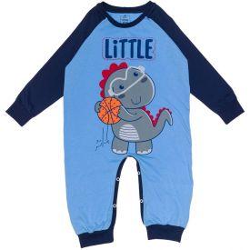 Macacão 1 a 3 anos Little Dino Yoyo Kids Azul Bebe