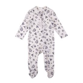 Macacão de Bebê com Pezinho Rovitex Off White