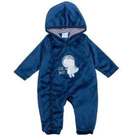 Macacão de Bebê Dino Astronauta Yoyo Baby Marinho