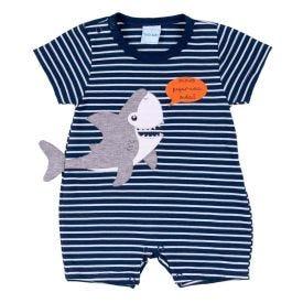 Macacão de Bebê Listrado Shark Yoyo Baby