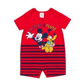 Macacão de Bebê Meia Malha Mickey e Pluto Disney Maca Do Amor