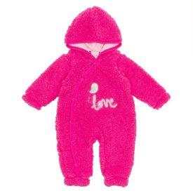 Macacão de Bebê Pelo Carneirinho Love Yoyo Baby Pink