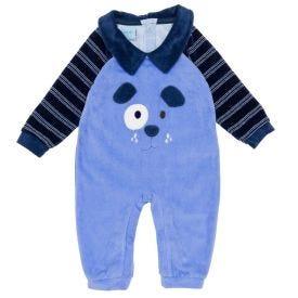Macacão de Bebê Plush Dog Yoyo Baby Azul