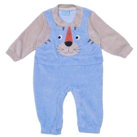 Macacão de Bebê Plush Ursinho Lion Yoyo Baby  Azul