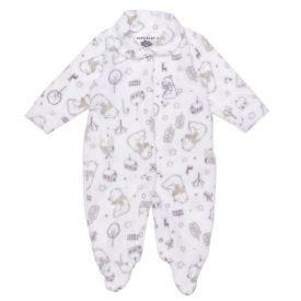 Macacão de Bebê Soft Neutro Yoyo Baby Urso Neutro