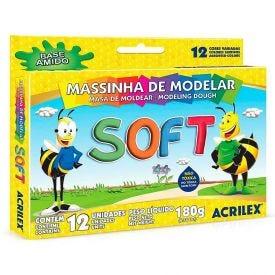 Massinha De Modelar Soft Abelinhas Com 12 Cores Acrilex - 07312