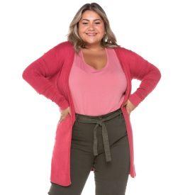 Max Cardigan Plus Size Tricot Analola Rose Blush