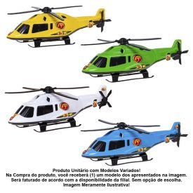 Mini Helicóptero Na Caixa Bs Toys - 254