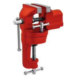 Mini Torno Bancada Giratória 60mm Worker - Vermelho