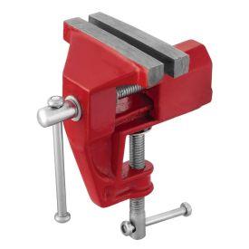 Mini Torno de Bancada Fixo 75mm Worker - Vermelho