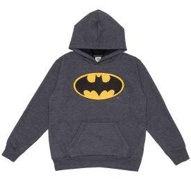 Moletom 12 a 16 anos Símbolo Corroído Batman DC Comics Preto Mescla