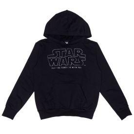 Moletom 12 a 16 anos Star Wars com Capuz Disney Preto