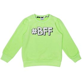 Moletom 4 a 10 anos Fluor BFF Fakini Verde Claro