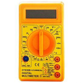 Multímetro Digital Gymd1000 Hammer - Amarelo