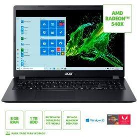"Notebook Acer Aspire 3 Ryzen5/8Gb/1Tb/Win10 15,6"" - Preto"