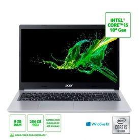 """Notebook Aspire 5 I5/8Gb/256Gb De Ssd/Win10 15,6"""" Acer - Prata"""