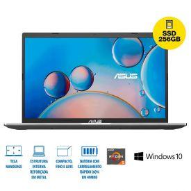 "Notebook Asus M515 Ryzen 5/8Gb/256Gb/Win10 15,6"" - Prata"