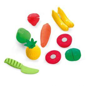 Nutri Feirinha Frutas Sortidas Com Velcro E Faca Tateti Calesita - 302