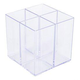Organizador Multiuso Com 4 Divisórias Paramount 10Cm - Transparente