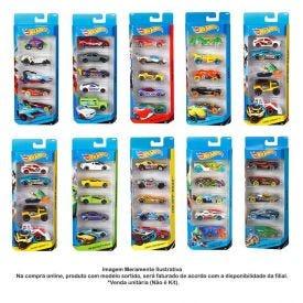 Mini Carrinhos Hot Wheels Kit Com 5 Modelos Mattel - 1806