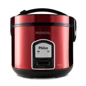 Panela Elétrica de Arroz Philco PH10 Visor Glass Inox Red