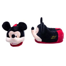 Pantufa Adulto Mickey Mouse Disney - PRETO/VERMELHO 35-36