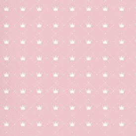 Papel De Parede 9,5M X 53Cm Havan - Rosa Com Coroas