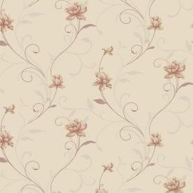 Papel De Parede 9,5M X 53Cm Havan - Floral Rosa SPO-501