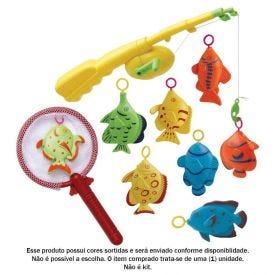 Pega Peixe Com Vara E 8 Peixes Art Brink - 830089