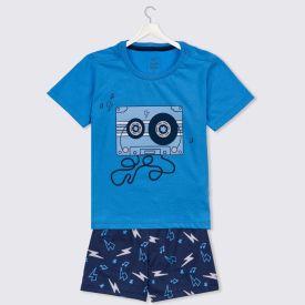 Pijama 1 A 3 Anos Fita Yoyo Kids Azul Ceu