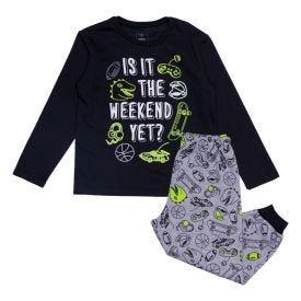 Pijama 1 a 3 anos Wekend Yoyo Kids Preto