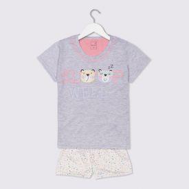 Pijama 12 a 16 Anos Dream Com Shorts Marmelada Mescla