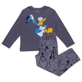 Pijama 12 a 16 Anos Pato Donald Disney Chumbo