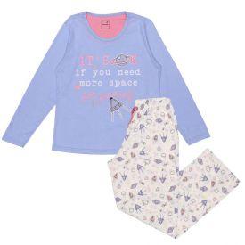 Pijama 12 a 16 Anos Space Marmelada Azul